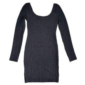 BCBG Long Sleeved Stretchy Ruffle Bodycon Dress S